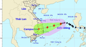 ベトナムにゴニが接近しています